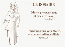 """Résultat de recherche d'images pour """"feuillet rosaire"""""""