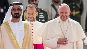 Le pape reçu au Palais présidentiel par le prince héritier d'Abu ...